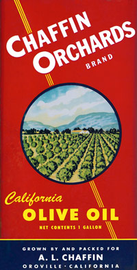 Original Chaffin Orchards Olive Oil Label